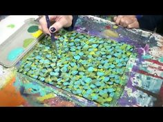Easy Abstract Acrylic Painting Background on Canvas Tutorial