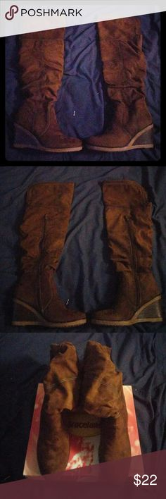 Graceland Knee Boots brown size 10.5 Brand new Graceland Shoes Over the Knee Boots