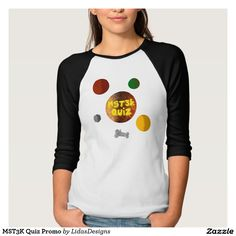 Women's Bella 3/4 Sleeve Raglan T-Shirt MST3K Quiz Promo Women's Bella 3/4 Sleeve Raglan T-Shirt for the android application #cool #mst3k #humor #science #geek #nerd #awesome #quiz #mystery #theatre #3000