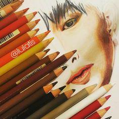 Wonho! Ig: @lulatis #monstax #kpop #wonho #fanart #drawing #pencils #coloredpencils #fabercastell