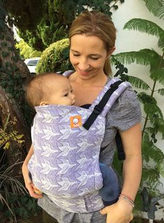(Standard Size) Half Wrap Conversion Tula Baby Carrier - Artipoppe Two Birds Ink