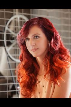 #ombre hair #red hair #red ombre hair @bloomdotcom