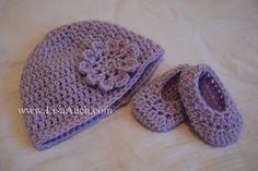 Patrón ganchillo gratis para el bebé, del niño y del niño del sombrero y cómo crochet a juego Botines del bebé (3 tamaños Bebé, Niño, Niño (Fácil)