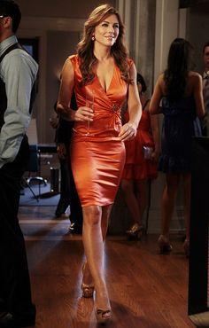 "Gossip Girl,' Season 5, Episode 6: ""I Am Number Nine""]DIANA PAYNE + Dress: Roberto Cavalli+ Shoes: Jimmy Choo+ Earrings: Noir"