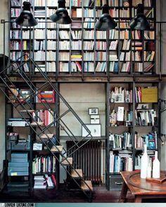 """""""What could possibly be better than a whole wall of books? How about two stories worth of books?"""""""