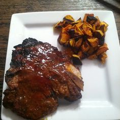 T-Bone with Sweet Potatoes at Mealfit.co