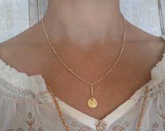 Yoga Om Necklace Gold Rosary Necklace Ohm Y by RemyandMeJewelry, $93.00
