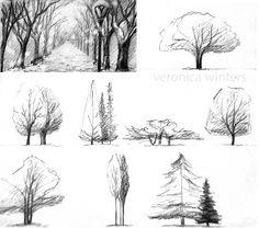 The secret to great landscape drawings practice рисунки, рис