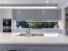 Glass splash back. Our K-series feature 15 different home designs for you to choose from. Industrial Kitchen Design, Kitchen Room Design, Home Decor Kitchen, Interior Design Kitchen, Kitchen Butlers Pantry, Open Plan Kitchen Dining, Modern Farmhouse Kitchens, Home Kitchens, Unique House Design