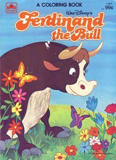 Disney Ferdinand the Bull Coloring Book, Golden Books 1983