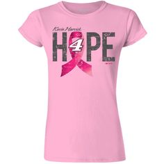 Kevin Harvick Stewart-Haas Racing Team Collection Women's Breast Cancer Awareness Car T-Shirt - Pink