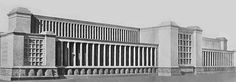 There was no official Nazi architectural style, although most of the structures and monuments designed by Albert Speer and others imitated Imperial Rome. Description from socialphy.com. I searched for this on bing.com/images