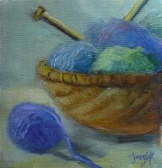 "Daily Paintworks - ""Sweaters for Everybody"" - Original Fine Art for Sale - © Carol Josefiak"