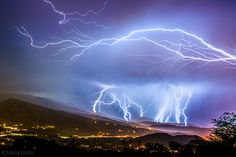 Intense lightning storm hitting snowmass colorado  By thomas o'brien