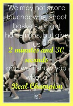 Cheer!:) this is for all the athletes who play sports