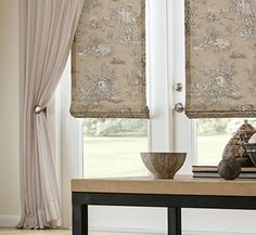 Your fabric or mine Romans Pinch pleated curtains Rod Drapes And Blinds, Shades Blinds, Drapery Panels, Panel Curtains, Roman Blinds, Curtains Or Shades, Window Drapes, Bay Window, Shower Curtains