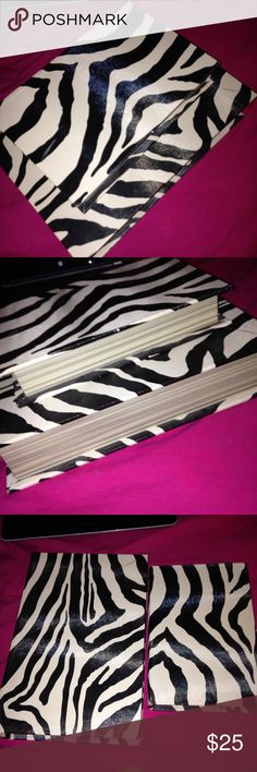 Zebra print boxes Two zebra print boxes. Really cute. Other