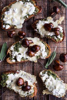 Buttered Mushroom, Sage Pesto + Goat Cheese Sourdough Toast | halfbakedharvest.com @hbharvest