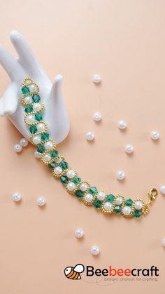 Beaded Jewelry Designs, Handmade Beaded Jewelry, Bead Jewellery, Jewelry Making Beads, Plunder Jewelry, Diy Jewelry Tutorials, Diy Crafts Jewelry, Bracelet Crafts, Jewelry Bracelets