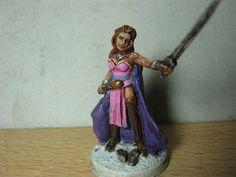 Warhammer Capa Sobre Capa - Diorama Dragones y Mazmorras - Obras propias-Sheila la ladrona