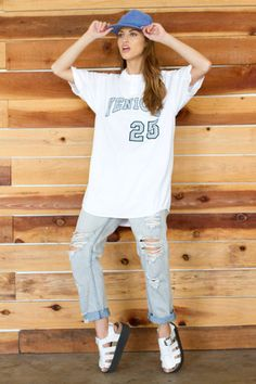 This look is so Cara Delevingne!! Jersey from Handpicked Los Angeles!!