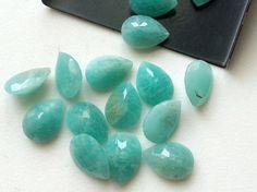 5 Pcs Amazonite Pear Stones Amazonite Pavillion by gemsforjewels