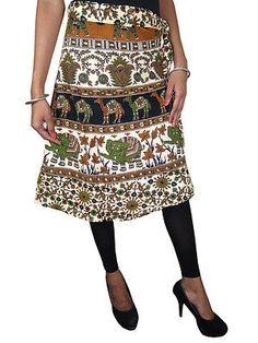 Indi Boho Short Wrap SKirt by baydeals Beach Wrap Skirt, Wrap Around Skirt, Skirt Fashion, Fashion Outfits, Gypsy Skirt, Ethnic Print, Bohemian Style, Bohemian Fashion, Print Wrap