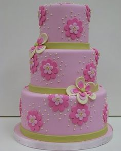 Pretty cake for a little girl.