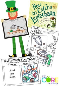 Interactive Read Aloud activities for the cutest book- How to Catch a Leprechaun. Language Activities, Kindergarten Activities, Writing Activities, Speech Activities, Spring Activities, Holiday Activities, Stem Activities, St Patricks Day Crafts For Kids, St Patrick's Day Crafts