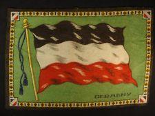 GERMANY FLAG Early 1900s Tobacco Cigar Cigarettes Silks Felt Rug Dollhouse