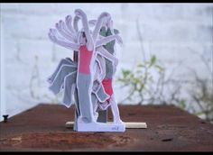 This makes me so happy!     The Modern Dance by Rogier Wieland. Cardboard cut out stopmotion animation.