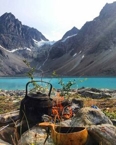 Coffee in the mountains. Nothing like waking up and drinking coffee in the mountains