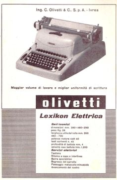 Lexikon Elettrica Advertising, 1953