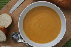 I& going to try this using organic vegetable broth, less butter (half olive oil) and see how that works. Pumpkin Soup, Canned Pumpkin, Pumpkin Recipes, Fall Recipes, Sweet Recipes, Soup Recipes, Cooking Recipes, Dinner Recipes, Healthy Canned Soups