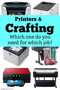 FAQ: Printers in Crafting - Cutting for Business Best Inkjet Printer, Vinyl Printer, Laser Printer, Printer Scanner, Tupperware, Printer Hacks, Cricut Print And Cut, Best Printers, Craft Business