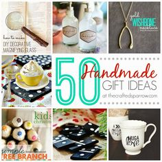 The Crafted Sparrow: 50 Handmade Gift Ideas