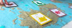 Montessori Continents Map & Quietbook with 3-Part Cards