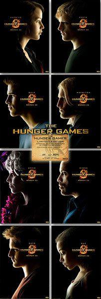 Pack 8 Póster The Hunger Games (Los Juegos del Hambre)