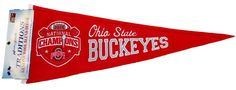 Ohio State Buckeyes 2015 Football National Champions Wool Traditions Pennant