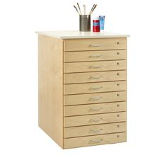 Diversified Woodcrafts Taboret | Wayfair Cd Storage, Secure Storage, Cork Tiles, School Furniture, Dovetail Drawers, Business Furniture, Woodworking Skills, Building A Deck, Create And Craft
