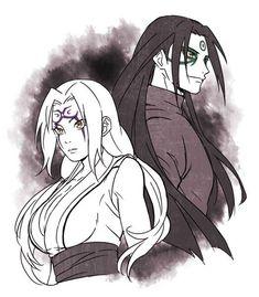 Tsunade and her grampa hishimara