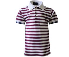 21fbb3507 Fred Perry Kids Ecru Tipped Stripe Polo Red White Navy - Terraces Menswear