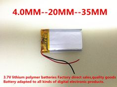 3.7 V lithium polymer batteries, 042035, 402035, 250 mah MP3 MP4't a MP5 small toys free shipping #jewelry, #women, #men, #hats, #watches