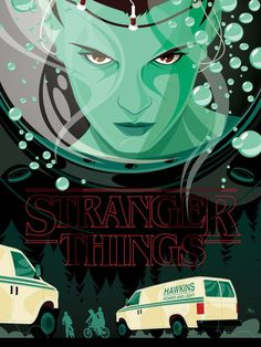The love for Netflix's Stranger Things continues to flood the Internet. Check out some fan made posters, video games, and more in Stranger Things Bits. Eleven Stranger Things, Stranger Things Netflix, Prince Charmant, Retro Poster, Monster Design, Alternative Movie Posters, Film Serie, Illustrations, Cultura Pop