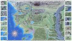 Beleriand and Realms of The North by Sirielle.deviantart.com on @DeviantArt
