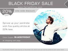 Black Friday Sale  Save 20% on shirts order by entering coupon BLACKFRIDAY at shopping cart page.   www.ceriseshirts.com  #blackfriday #blackfriday2015
