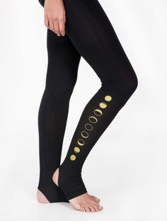 MOON LEGGINGS Silken soft, functional and comfortable Moon Leggings are one of our favorite items.  Designed with a cut for the heel to poke out, so everything stays in position and you can just focus on your practice. |||| Pinned by www.AndaraStars.com || #Mindful #Active #Wear for #Yoga #Dance #Pilates #Leisure #Fitness ||||