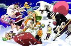 Soul Eater Christmas: Soul, Maka, Kid, Liz, Patty, Stein, Tsubaki and Black Star