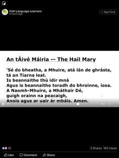 Irish Language, Hail Mary