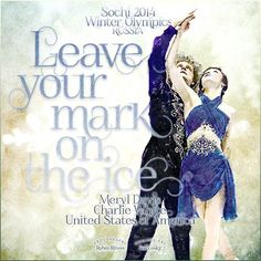 Meryl Davis and Charlie White Ice Dancers. 2014 Olympic Winter Games. Sochi Russia